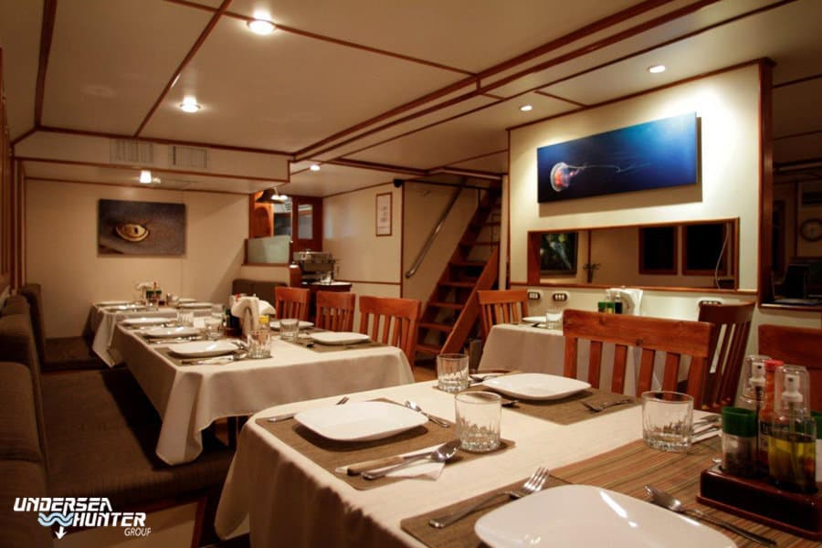 Cocos Island Liveaboard holiday Argo Dining room
