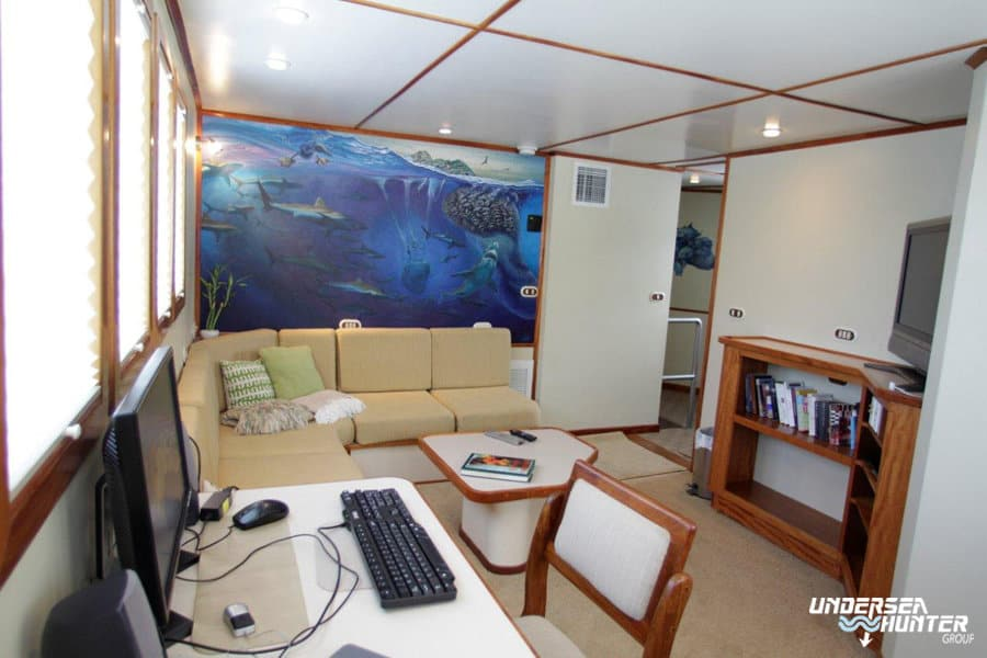 Cocos Island Liveaboard holiday Argo Upper Lounge 2