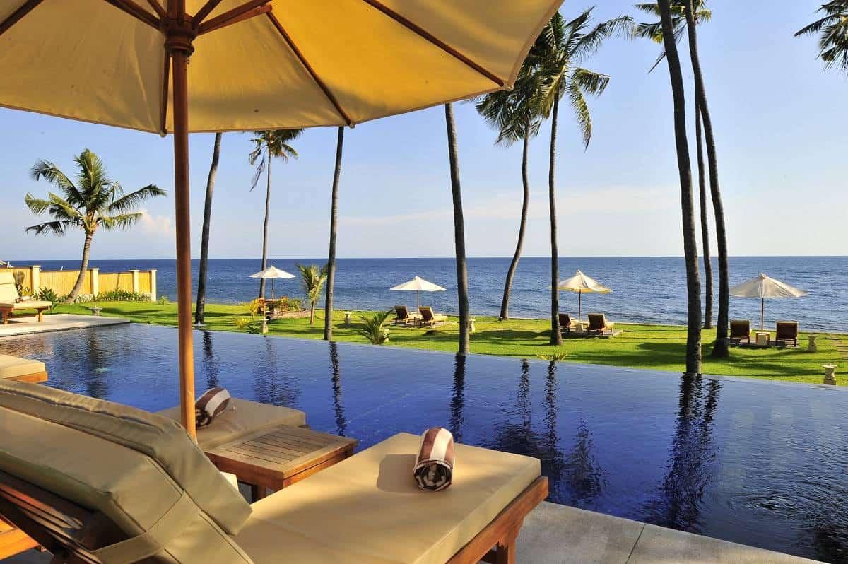 Indonesia Bali Diving holidays Kubu Indah Pool view