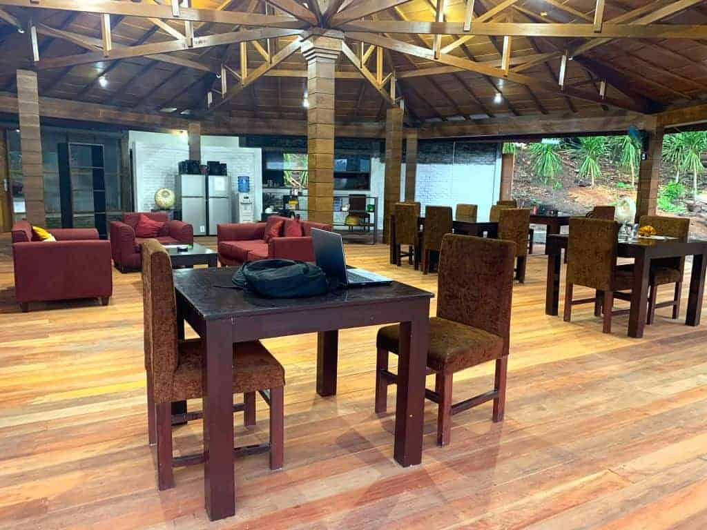 Indonesia Diving Holiday North Sulawesi White Sands Beach Resort restaurant