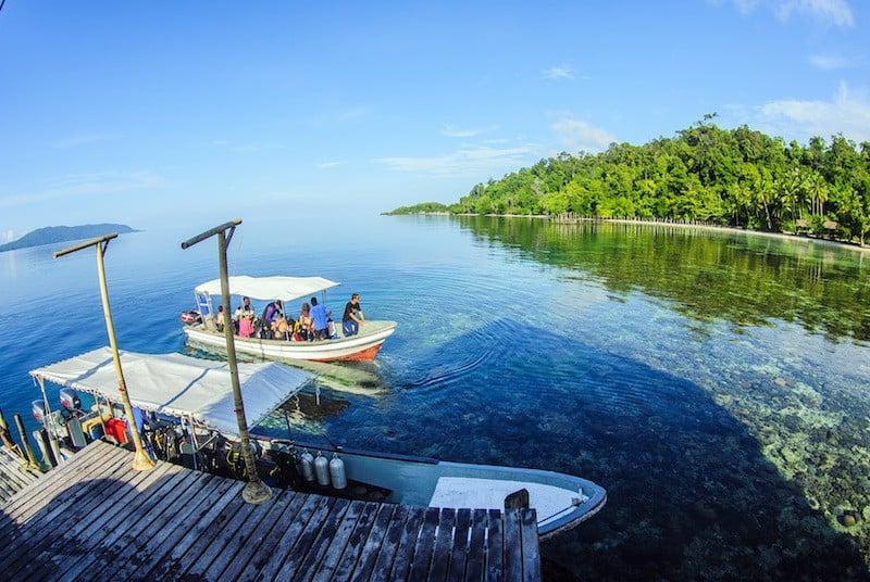 Indonesia Diving Holiday Raja Ampat Papua Explorer Tender and divers