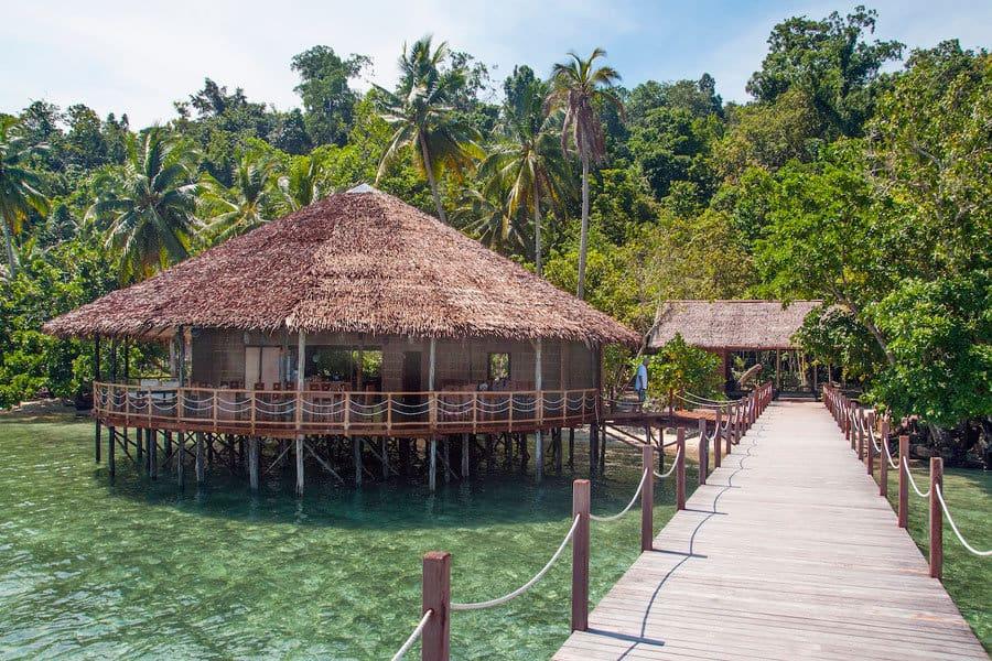 Indonesia Diving Holiday Raja Ampat Papua Explorer view Restaurant