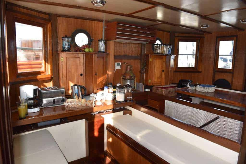 Indonesia liveaboard Diving holidays Emperor Raja Laut Galley