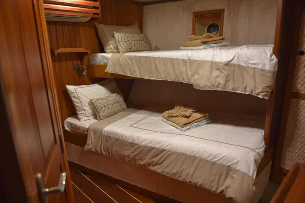 Indonesia liveaboard Diving holidays Emperor Raja Laut twin cabin