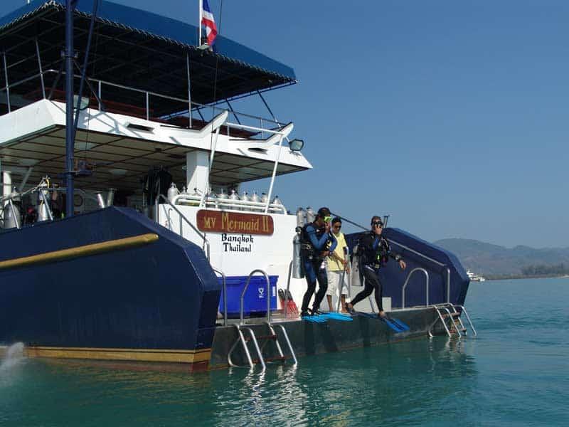 Indonesia liveaboard Diving holidays Mermaid 2 dive deck