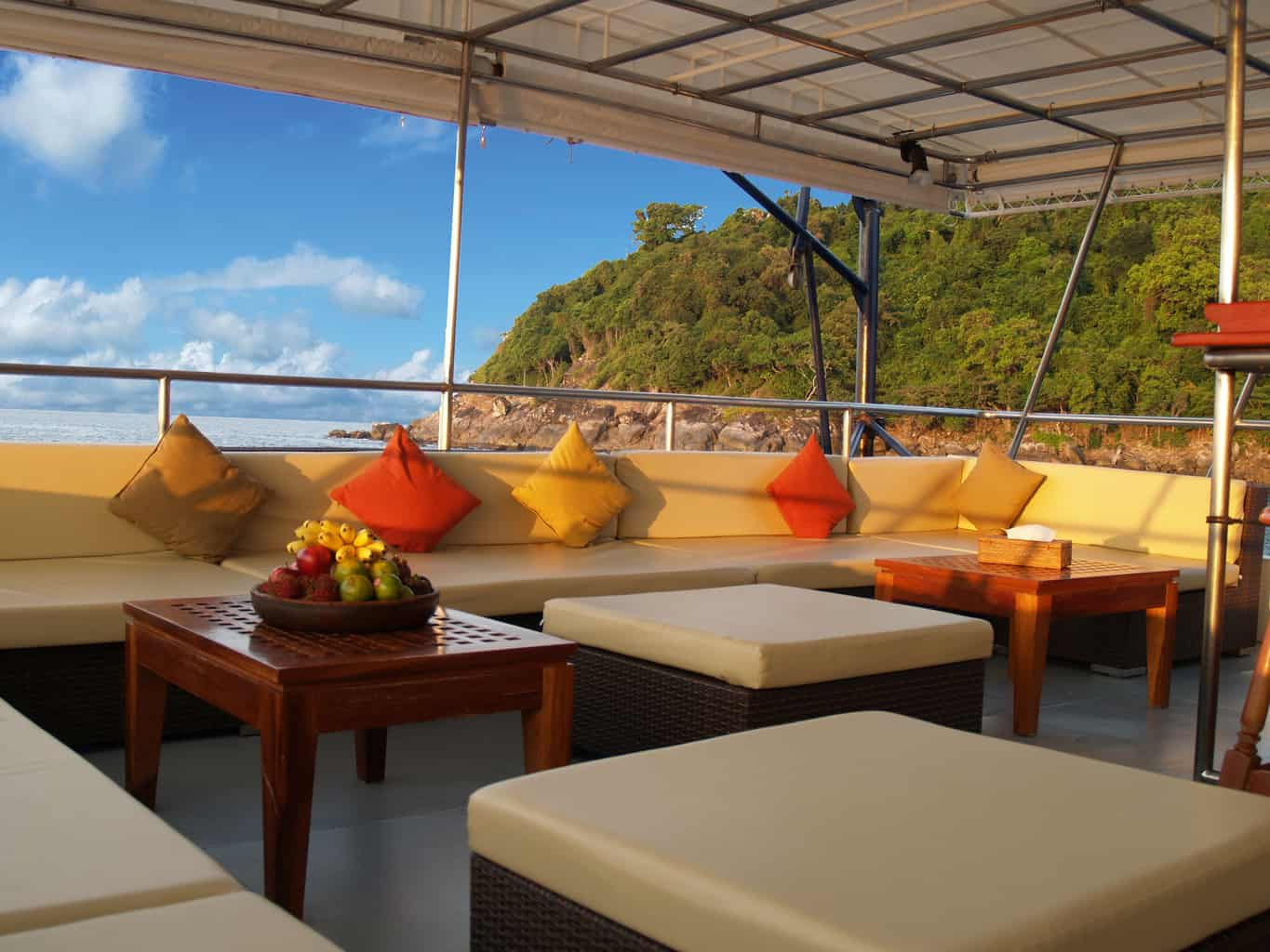 Indonesia liveaboard Diving holidays Mermaid 2 outside lounge