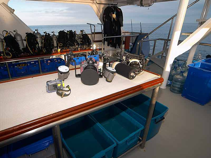 Indonesia liveaboard Diving holidays Mermaid one dive deck