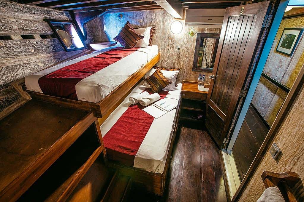 Indonesia liveaboard Diving holidays Seven Seas Twin Cabin Lower Deck