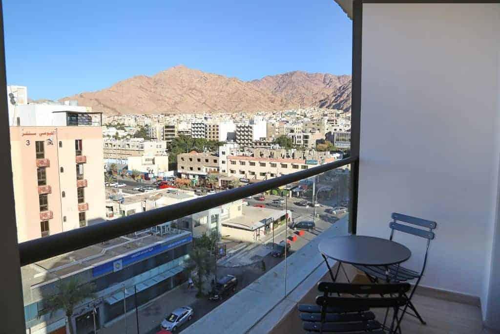 Jordan Diving holidays Aqaba La Costas hotel veranda