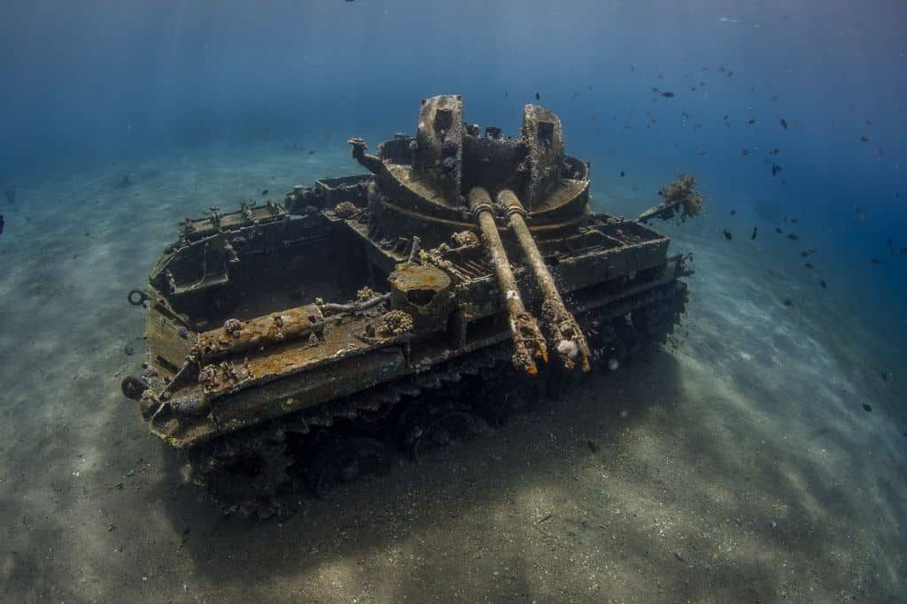 Jordan Diving holidays Aqaba wreck tank