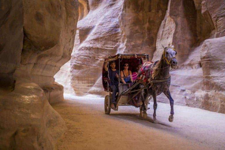 Jordan Diving holidays Petra horse canyon