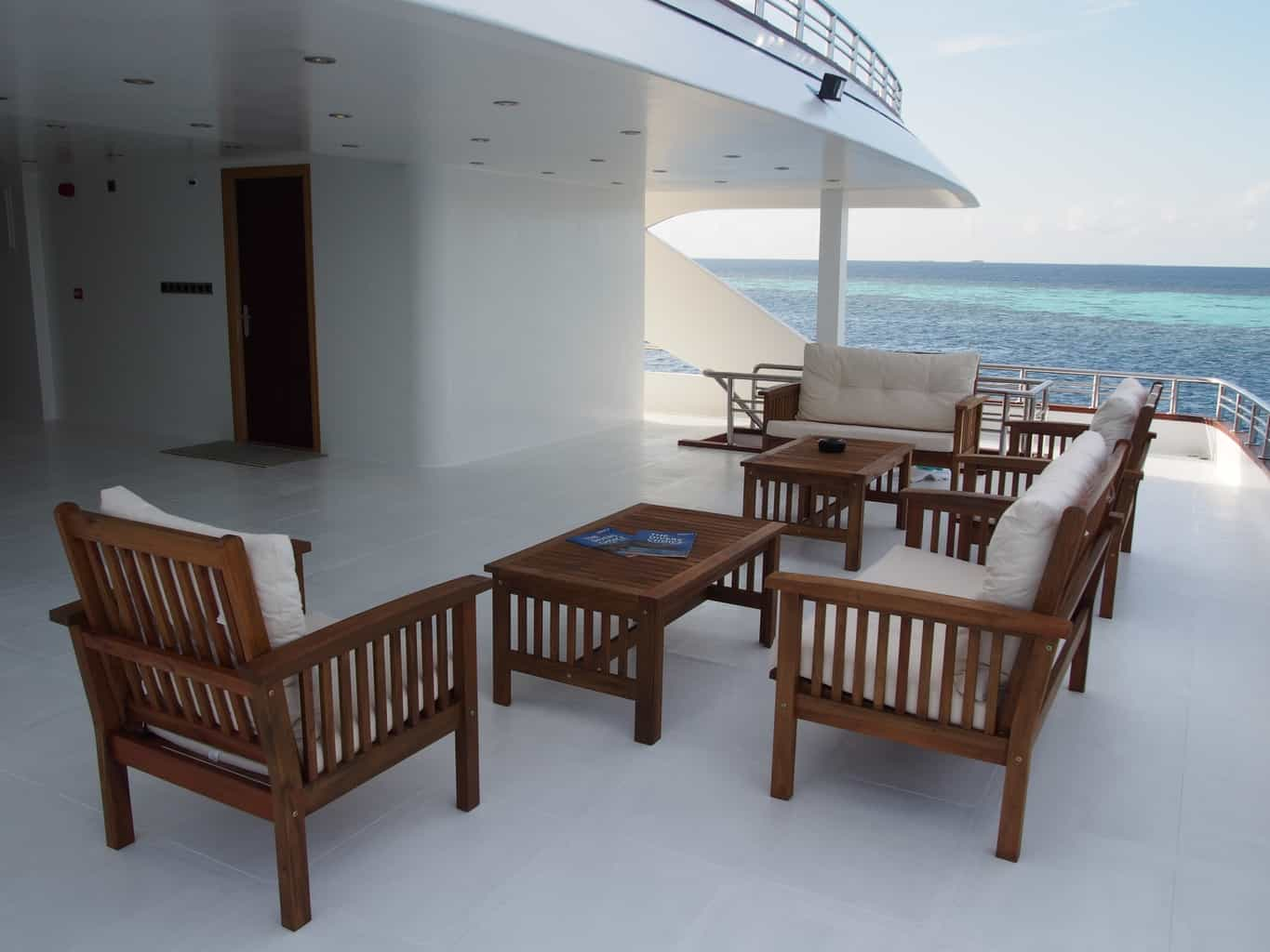 Maldives Liveaboard Holidays Emperor Serenity Deck and relaxing area