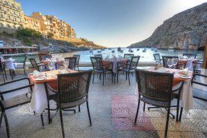 Malta and Gozo Diving holidays St.Patricks outside restaurant