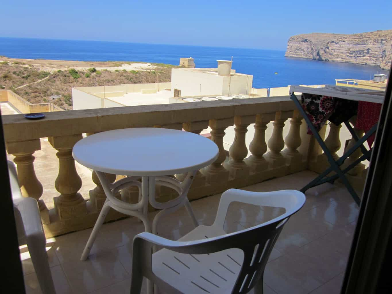 Malta and Gozo Diving holidays self catering balcony