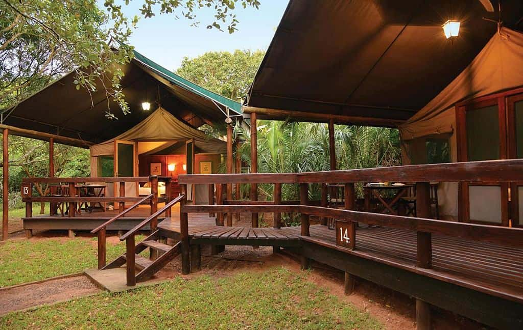 Mozambique Diving Safaris Falaza Game Park Tent Family