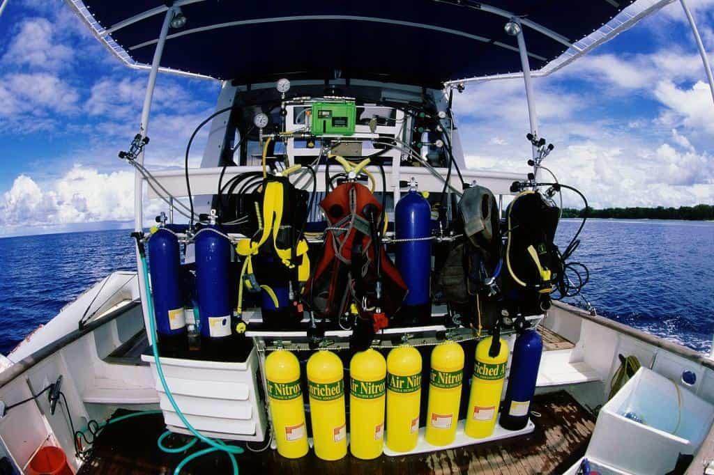 Palau Liveaboard Diving holiday Ocean Hunter 1 Back Deck