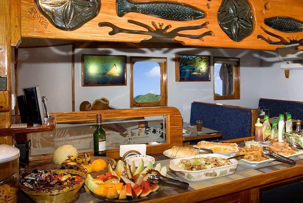 Palau Liveaboard Diving holiday Ocean Hunter Dining Room