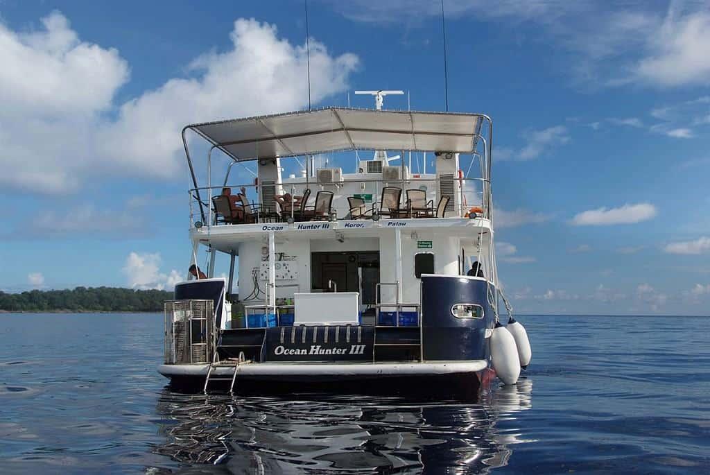 Palau Liveaboard Diving holiday Ocean Hunter Dive Deck
