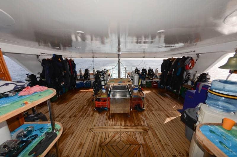 Red Sea Liveaboard holiday Emperor Superior diving deck