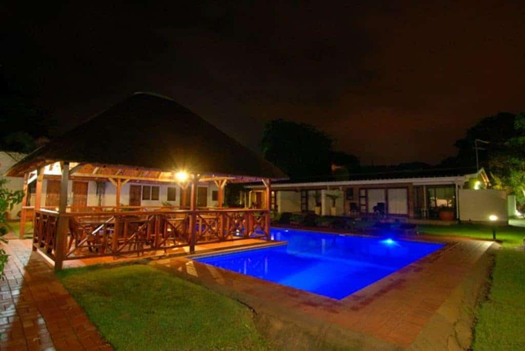 South Africa Diving Holiday Aliwal Shoal Agulhas house Gazebo at Night