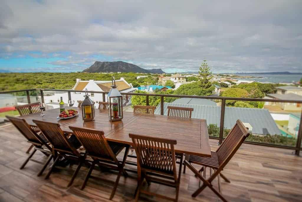 South Africa Diving Holidays Gansbaai Great White Sharks Guest House outside decking