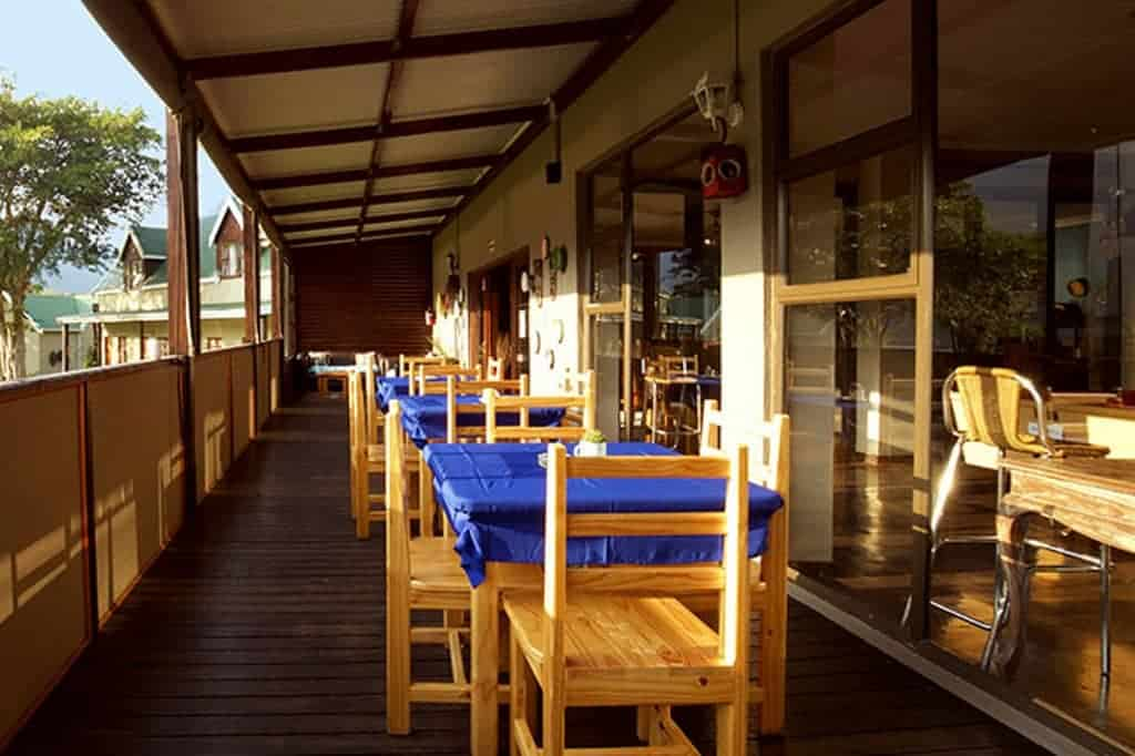 South Africa Diving Holidays Sardine Run Port St Johns Rivers Lodge Restaurant Patio