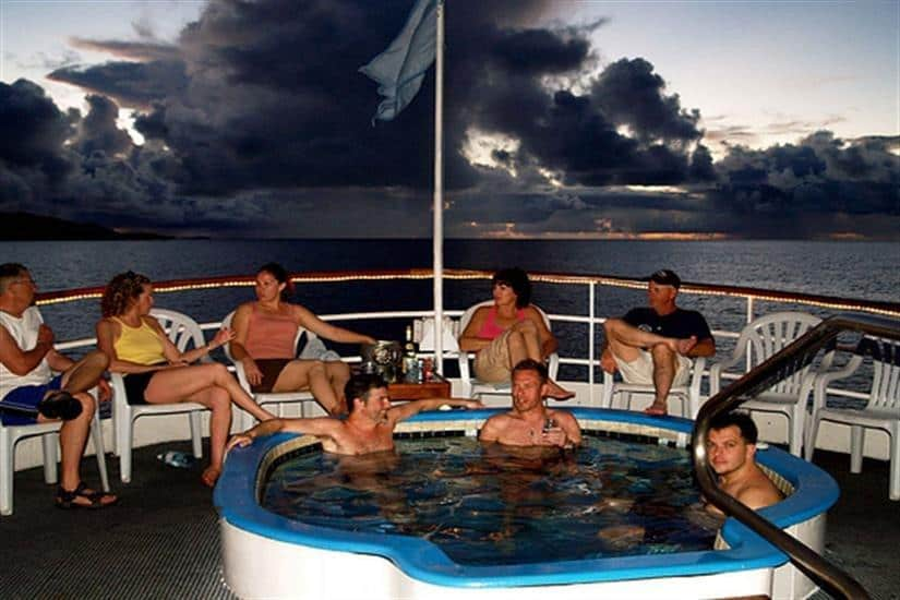 Truk Wreck Diving liveaboard holiday SS Thorfinn Arch Spa jacuzzi