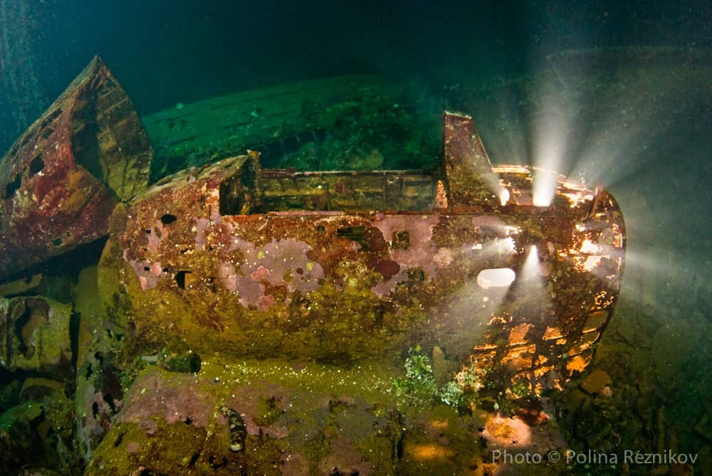 Truk Wreck Diving liveaboard holiday SS Thorfinn Wreck and light