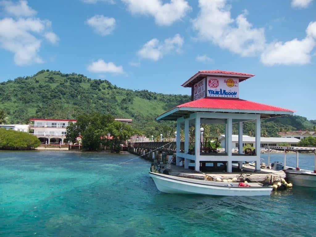 Truk Wreck Diving liveaboard holiday Truk stop Hotel Dock