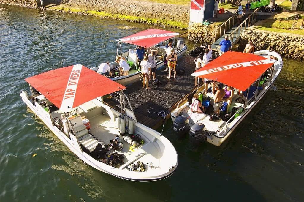 Yap Diving Holiday manta ray resort Yap Divers Dive Boats