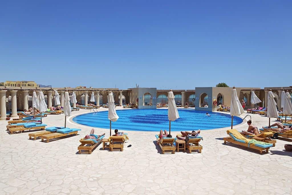 Red Sea Egypt Diving Holidays El Gouna Ocean View Soleil Pool and sun loungers