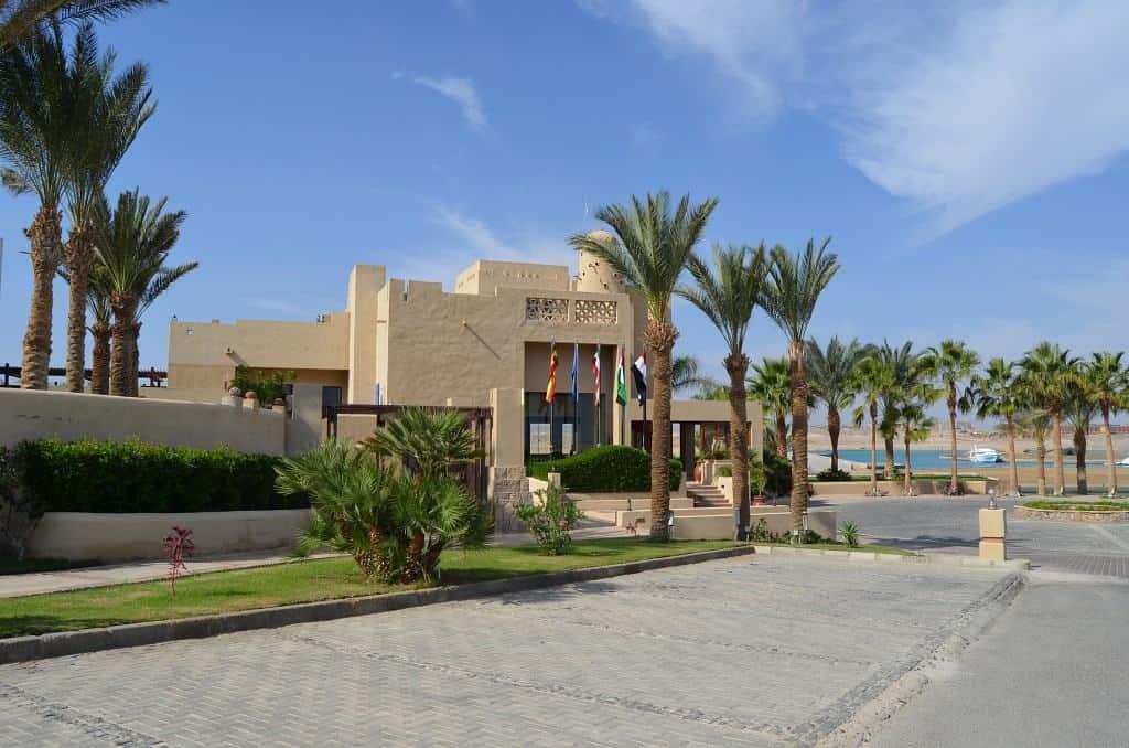 Red Sea Egypt Diving Holidays Marsa Alam Marina Lodge Entrance