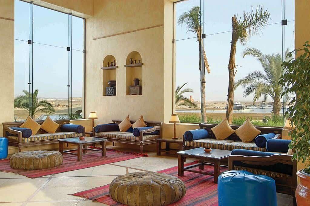 Red Sea Egypt Diving Holidays Marsa Alam Marina Lodge Lobby and view