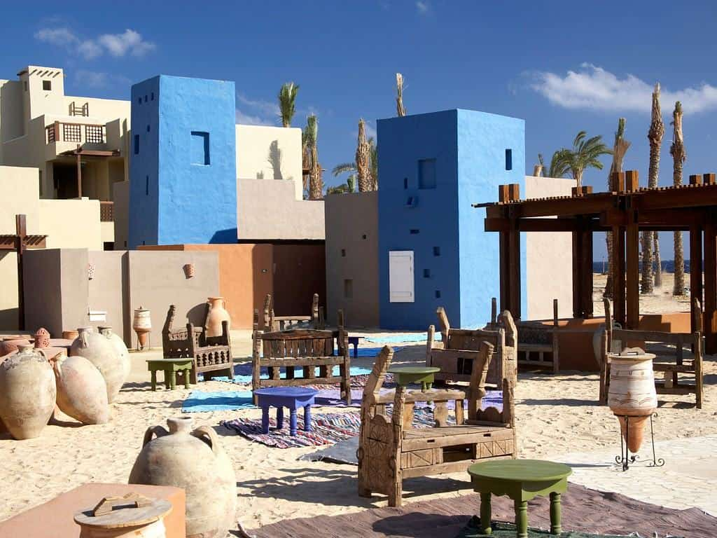 Red Sea Egypt Diving Holidays Marsa Alam Siva Port Ghalib Resort Cardamom Restaurant outside