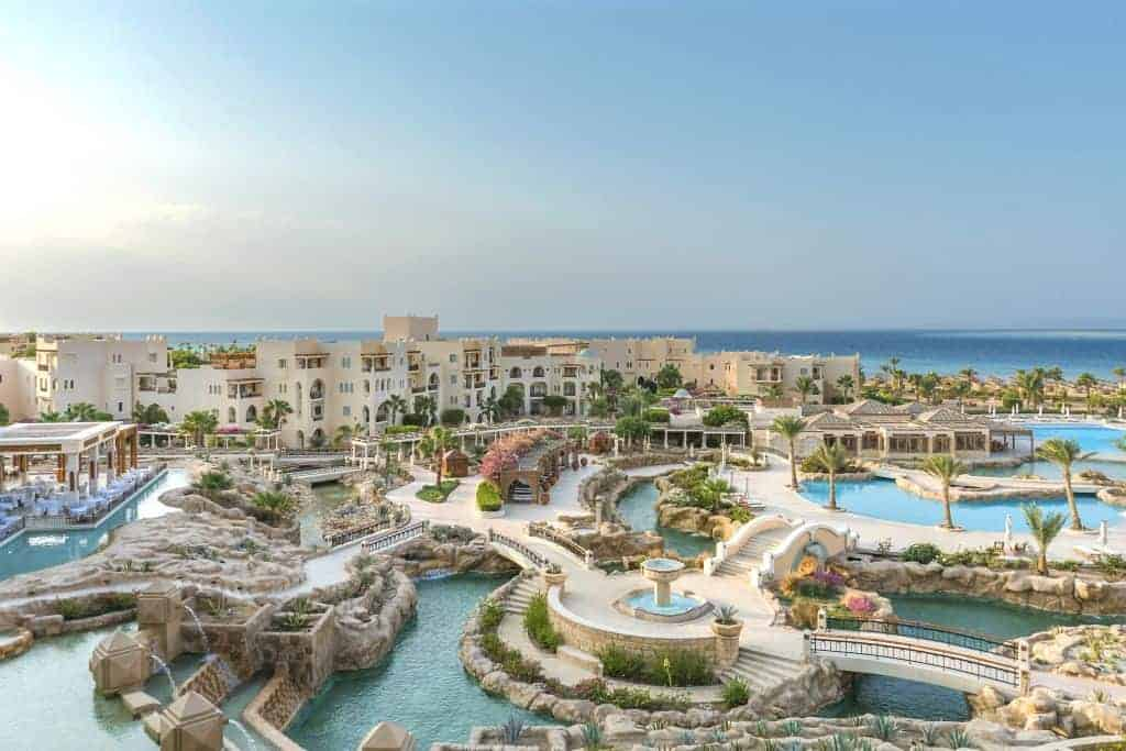 Red Sea Egypt Diving Holidays Soma Bay Kempinski Hotel Pools Facade