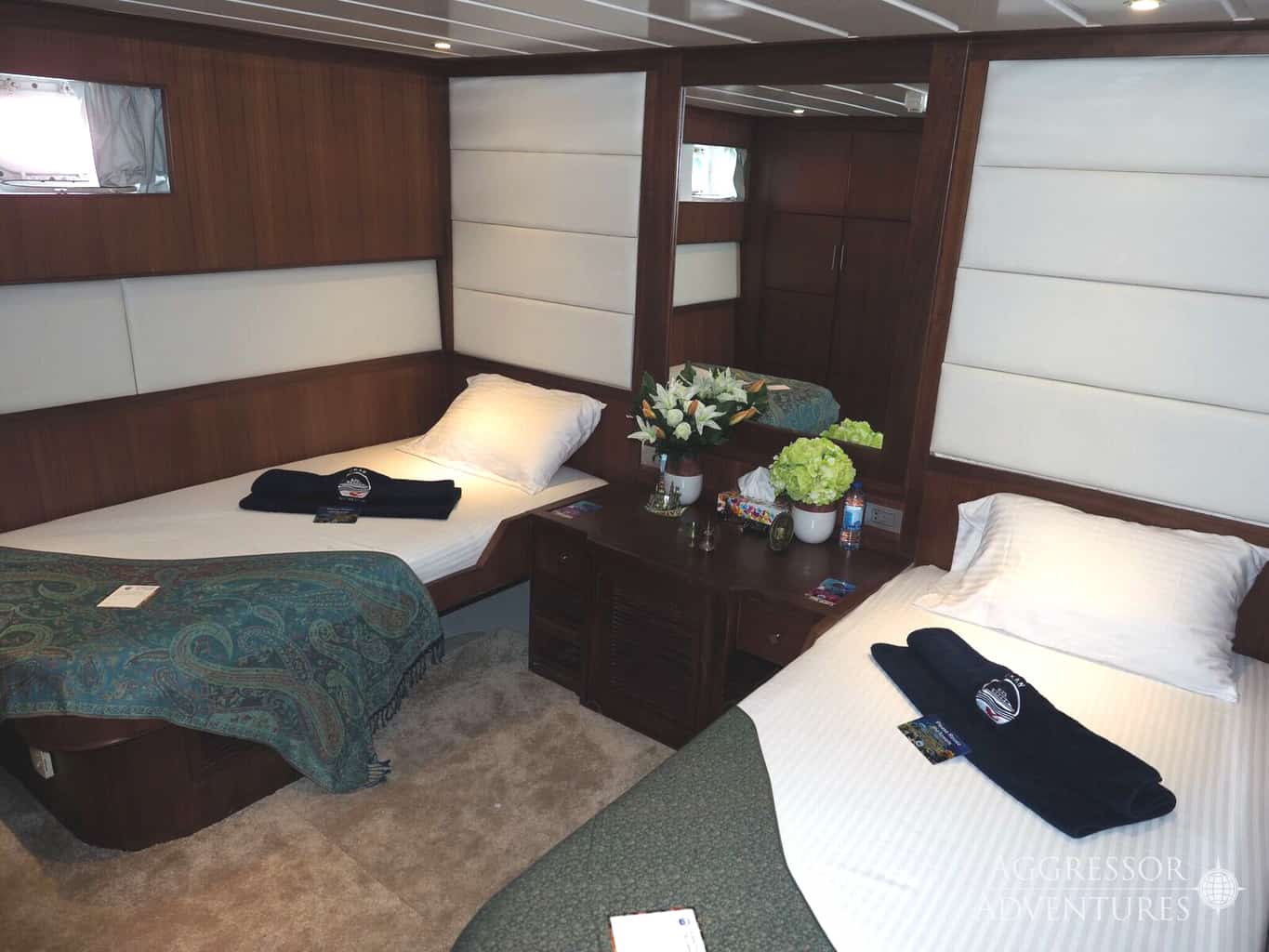 Oman Liveaboard Diving Holiday Oman Aggressor yacht twin cabin