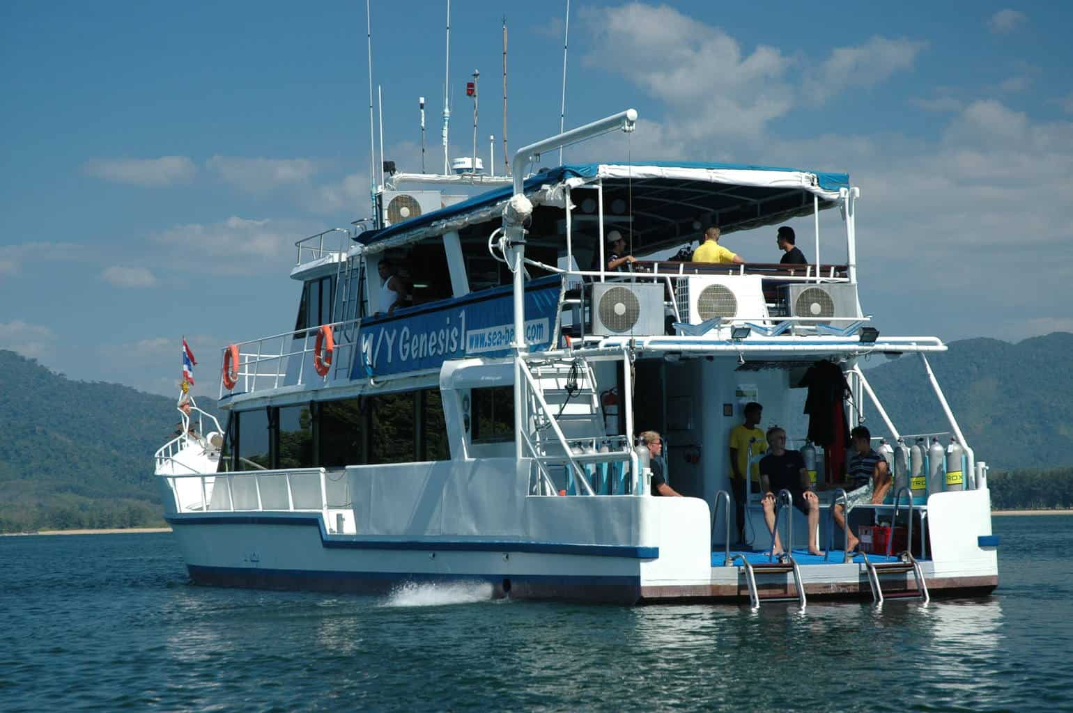Thailand Diving Holidays MV Genesis 1 stern and side view
