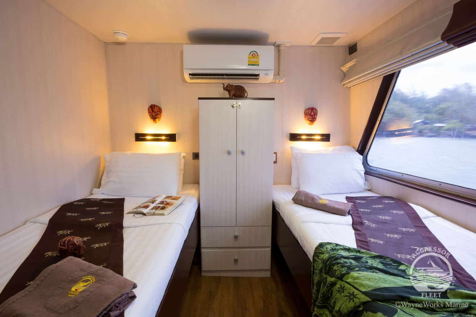 Thailand Diving holidays - Thailand Aggressor cabin twin