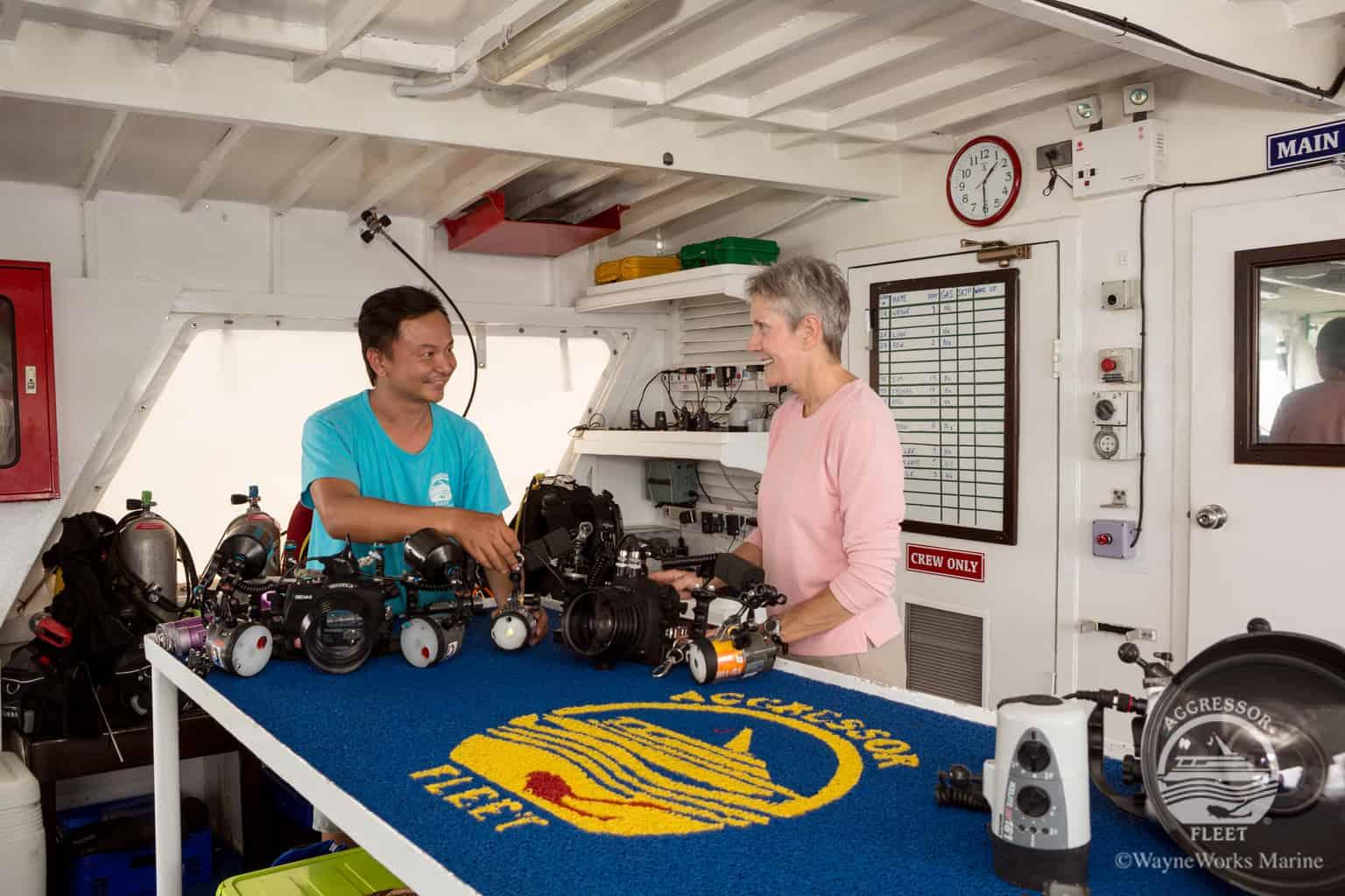Thailand Diving holidays - Thailand Aggressor camera deck 1